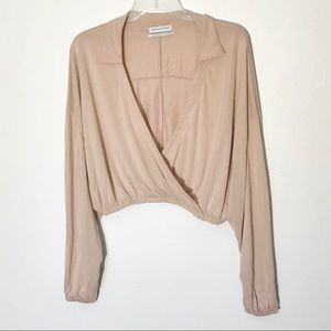 Urban Outfitters Drape Front Top Small